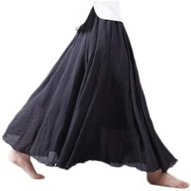 (アッシュランゲル)ASHERANGEL  ふんわり 広幅 マキシスカート 森ガール ロングスカート マキシ丈 ブラック