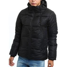 インプローブス フードジャケット ボリュームネック 軽量 防寒 黒 青 緑 無地 大きいサイズ ブラック M サイズ