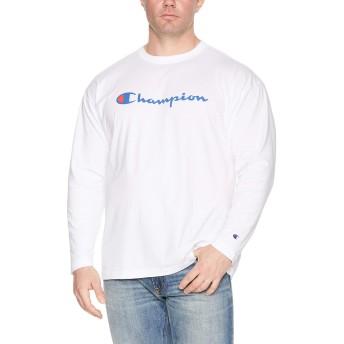 [チャンピオン] スクリプトロゴ ロングスリーブTシャツ ベーシック 大きいサイズ C3-J426L メンズ ホワイト 日本 2L (日本サイズ2L相当)