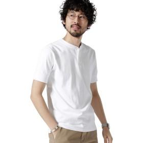 [ナノユニバース] Anti Soaked ヘビー ヘンリーネックTシャツ メンズ ホワイト S