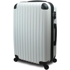 【SUCCESS サクセス】 スーツケース 超軽量 3サイズ( 大型 Lサイズ / 中型 Mサイズ / 小型 Sサイズ ) キャリーバッグ TSA搭載 FS2000 ファスナー (大型 Lサイズ 7~14泊用, ホワイト)