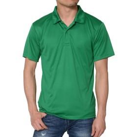 ティーシャツドットエスティー ポロシャツ ドライ 半袖 無地 薄手 3.5oz メンズ グリーン L