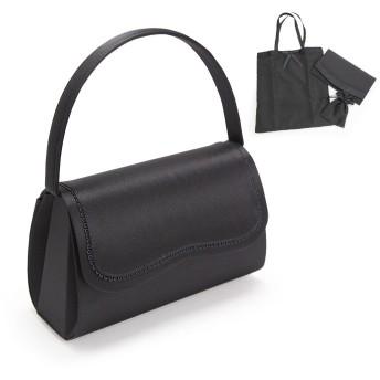 サテンフォーマルバッグ 4点セット HK-1401 ハンドバック・袱紗・サブバッグ・巾着セット