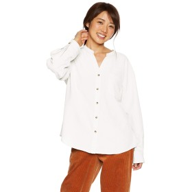 (アルシーヴ) archives a-2WAY麻調バンドカラーシャツ 184161744006 MEDIUM オフホワイト