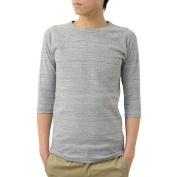 (ジーンズバグ)JEANSBUG オリジナル スパン フライス 7分袖 クルーネック Tシャツ メンズ レディース 無地 SP7T M 無地(刺繍なし)(ヘザーグレー)