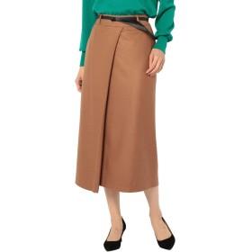 (ノーリーズ) NOLLEY'S ベルト付ロングスカート 8-0242-5-06-009 36 キャメル