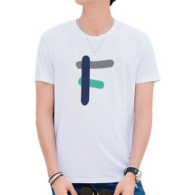 KTMOUW Tシャツ メンズ 半袖 カットソー 無地 クルーネック 夏 秋 カジュアル 大きいサイズ 通勤 通学 ゆったり 丸首 薄手 綿 ホワイト#F L