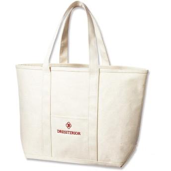 ドレステリア トートバッグ DRESSTERIOR SPECIAL BIG TOTE BAG e-mook 雑誌付録(雑誌なし) (ホワイト)