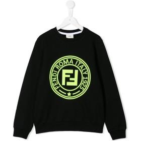 Fendi Kids ロゴ セーター - ブラック