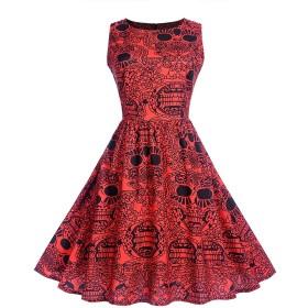 MISSVIN婦人用ポルカドットのドレス、50年代のスタイルの半袖ロカビリービンテージドレス (S, 923B)