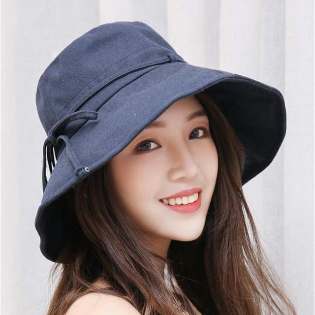 あご紐つき UVカット帽子