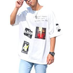 LUX STYLE(ラグスタイル) 半袖Tシャツ メンズ トップス ビッグシルエット ストリート ホワイトM