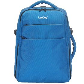 【LeeDee】 2WAYキャリーバッグ キャスター付き、ブルー、軽量、機内持ち込みサイズ