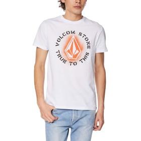[ボルコム] [メンズ] 半袖 プリント Tシャツ (アジアンFIT)[ AF3219G1 / Apac Stone-Age S/S T ] おしゃれ ロゴ WHT_ホワイト US L (日本サイズL相当)