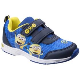 [Leomil] (レオミル) キッズ・子供 ミニオンズ オフィシャル商品 面ファスナー留 スニーカー 子供靴 運動靴 カジュアル (11 チャイルド UK) (ブルー/イエロー)