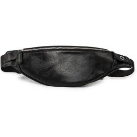 [マローサム] 職人が作る ウエストポーチ メンズ 黒 ブラック シンプル