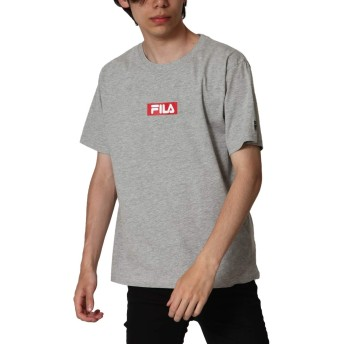 [フィラ] FILA ボックスロゴプリント半袖Tシャツ fh7493 MIXGRAY LL