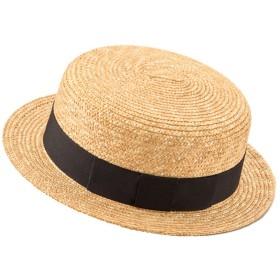 (田中帽子) Marin(マラン)子供用カンカン帽子/7-8mm (おそろい 親子 帽子 レディース キッズ 日本製)UK-H044 (52cm)