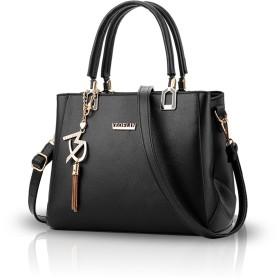 NICOLE&DORIS 女性のファッションハンドバッグクロスボディショルダー財布バッグ女性レディトートトートPU ブラック