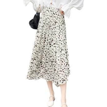 (アブロンダ)ABRONDA スカート かわいい プリーツスカート ふんわり感 少女 レディーススカート 水玉 体型カバー ウェストゴム 春夏 4色選択