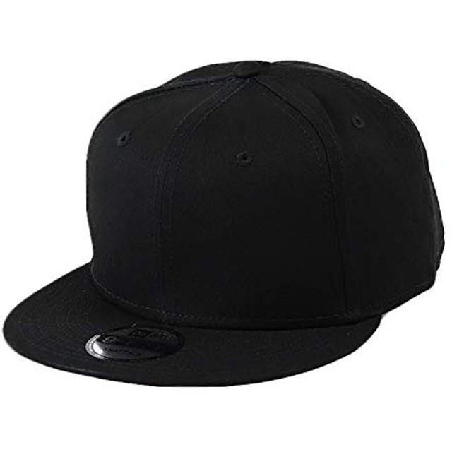 NEW ERA(ニューエラ) キャップ スナップバック 無地 9FIFTY メンズ 帽子 ベースボールキャップ スナップバックキャップ ブラック 黒 [並行輸入品]