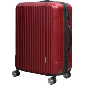 スーツケース 大容量 キャリーバッグ 超軽量 拡張機能付き 8輪 Wキャスター TSAロック 2040 小型 Sサイズ レッド(2040-S-Red)