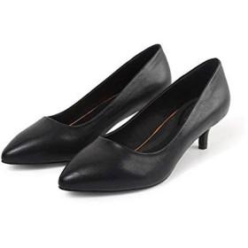 [Chuguang] パンプス 本革 レディース フォーマル 黒 革靴 ハイヒール パンプス 美脚 ポインテッドシューズ 歩きやすい 通勤 仕事 オフィス 美脚 痛くない 22.5cm~25cm (250, ブラック3cm)