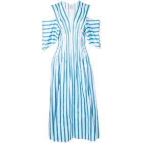 Maison Rabih Kayrouz オープンショルダー ドレス - ブルー