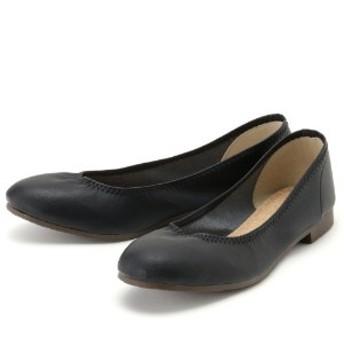 【日本製】履き口ゴムで足にフィット柔らか素材のバレエシューズ