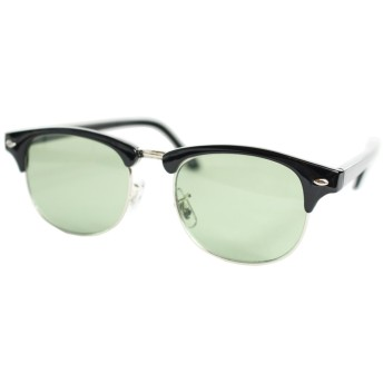 (エイトトウキョウ)eight tokyo 1949c-5 UVカット クラブマスター サングラス ライト カラー ブラック・シルバー/ライトグリーン