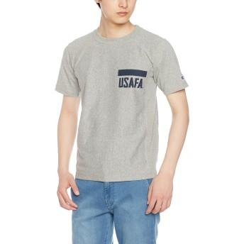 [チャンピオン] リバースウィーブ Tシャツ C3-F371 メンズ Oグレー×ネイビー 日本 M (日本サイズM相当)