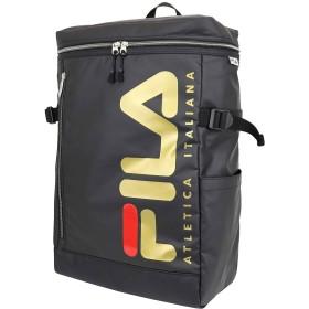 FILA(フィラ)PUコーティングスクエアリュック BOX型 軽量 撥水 (ゴールド)