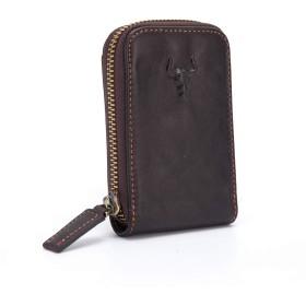 IGENJUNクレジットカードケース 本革製 財布 メンズ じゃばら 小銭入れ コンパクト カード入れ (デザインが多様である)