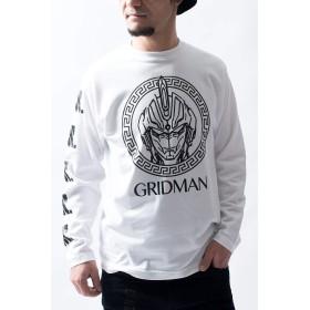 『SSSS.GRIDMAN』グリッドマン メアンドロス ロングTシャツ(男女兼用) グリッドマン グッズ 服 アパレル (L, ホワイト)