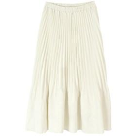 ティティベイト 裾消しプリーツスカート レディース オフホワイト L 【titivate】