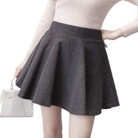 (Chenming) ミニスカート、トランペット、ハイウエスト、内層、ショートセクション、言葉、シンプルで美しい脚、短いセクション、ベルベットの肥厚、春、秋、冬 (灰色, L)