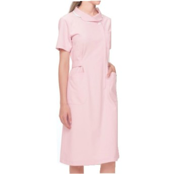(ナガイレーベン) NAGAILEBEN 女子 ワンピース 半袖 ホスパースタット 白衣 HO-1937 LLサイズ ピンク