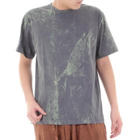 [OKI(オキ)] ストーンウォッシュ Tシャツ エスニック アジアン メンズ レディース ユニセックス 沖縄技研 (M, グレー)