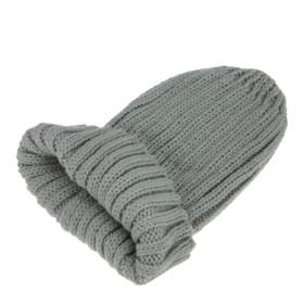 FakeFace ベッカム ユニセックス ニット帽子 ファッション 毛糸 キャップ ライトグレー