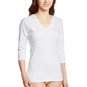 [グンゼ] インナーシャツ 快適工房 V型7分袖スリーマー 綿100% 日本製 KH5046 レディース ホワイト 日本L (日本サイズL相当)