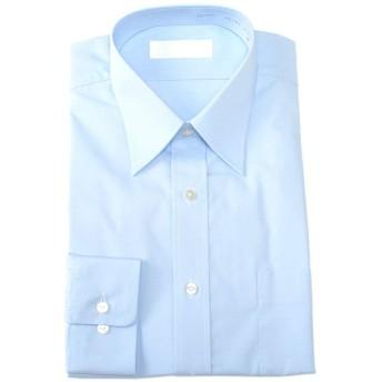 (アウトレットファクトリー)OUTLET FACTORY 福袋 サックスブルーシャツ 長袖 Yシャツ カッターシャツ ワイシャツ 青 ビジネスシャツ 43-76