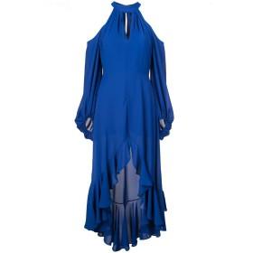 Nha Khanh オープンショルダー ドレス - ブルー