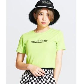 [マルイ]【セール】ロゴUネックショートTシャツ/ウィゴー(レディース)(WEGO)