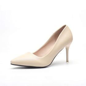 [QIYUN.Z] レディースファッション革ハイヒール先のとがったパンプス裁判所の靴