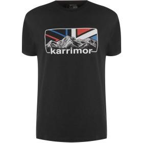 Karrimor Mens Organic TShirt Mens カリマー メンズ 半袖 Tシャツ オーガニックコットン入り ビッグロゴ Black XL
