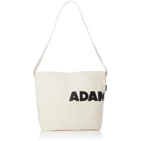 ADAM PATEK メンズ KENTON ロゴ キャンバス ショルダーバッグ AMPKB047 フリーサイズ ホワイト