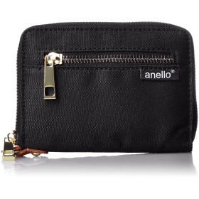 [アネロ] 公式 ポリキャンバス折り財布 AT-B1222 BK