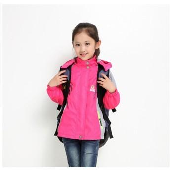 子供服 女の子 ウインドブレーカー 学生 ジュニア アウター スタジャン フード付き 薄手 春 防寒 ジャケット 110-160