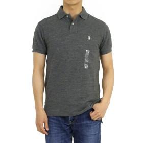 (ポロ ラルフローレン) POLO Ralph Lauren カスタムフィット メンズ ポロシャツ CUSTOM FIT 無地 ワンポイント 0105600-M-BLKHTRWHT [並行輸入品]