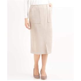 (アーヴェヴェ) a.v.v スェードタッチ アウトポケット付きナロータイトスカート[WEB限定サイズ] K2HDG05049 36 ライトグレー